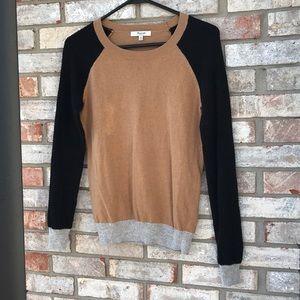Madewell colorblock wafflestich Sweater